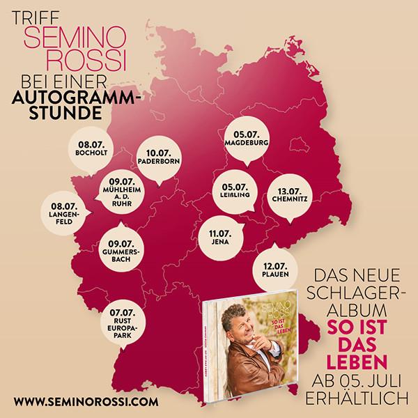 Semino Rossi rund um Deutschland - Autogrammstunden